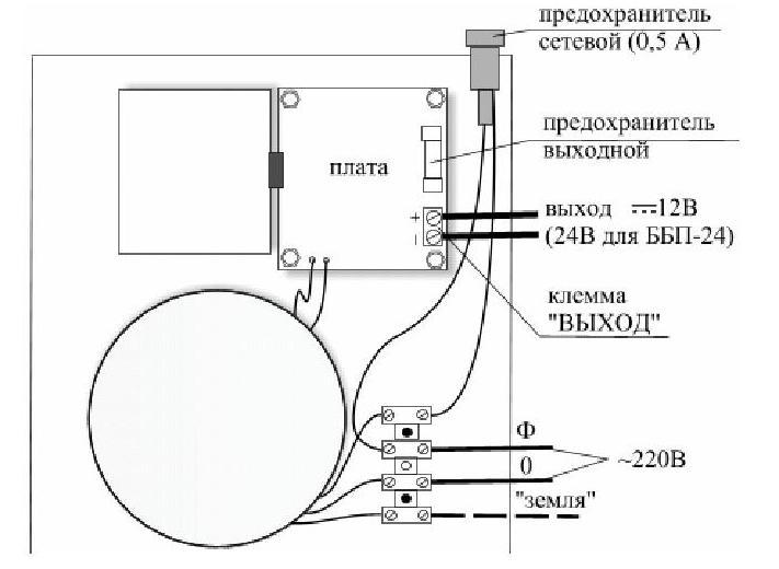 ББП-20 исп.1 монтажная схема