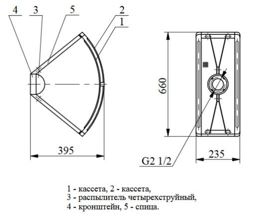 ГЧС Генератор пенный четырехструйный сеточный