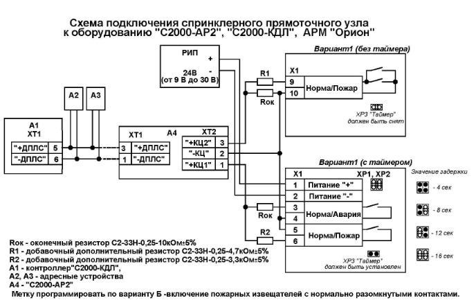 Схема подключений УУ