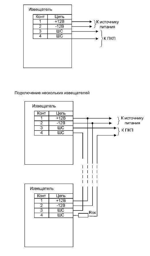 Пирон-5 схема подключения