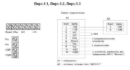 Пирс-1-1 схема подключения