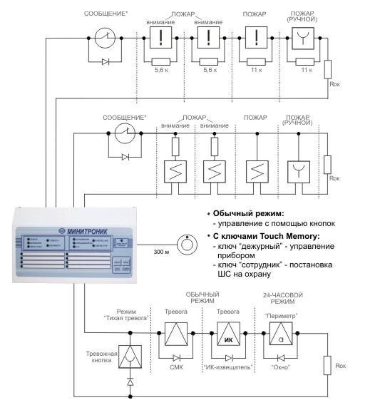 Минитроник 8 схема