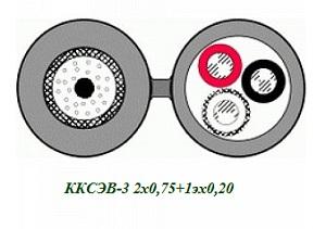 ККСЭВ-3 2х0,75+1эх0,20